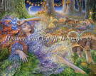 Heaven And Earth Designs(HAED)クロスステッチ Faery チャート Josephine Wall 刺しゅう 図案 アメリカ 妖精 フェアリー 月 きのこ 全面刺し 上級