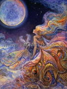 Heaven And Earth Designs(HAED)クロスステッチ Supersized Fly Me To The Moon チャート Michele Sayetta/Josephine Wall 刺しゅう 月 スーパーサイズ 満月 妖精 フェアリー 蛾 アメリカ 全面刺し 上級