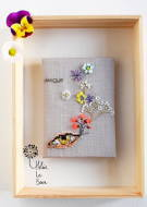 "Helene Le Berre 刺しゅう Kit de Broderie ""IRIS"" - Embroidery Kit ""IRIS"" キット フランス 刺しゅう"