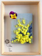 "Helene Le Berre 刺しゅう Kit de Broderie ""MIMOSA"" - Embroidery Kit ""MIMOSA"" キット フランス 刺しゅう"