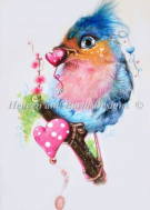 Heaven And Earth Designs(HAED)クロスステッチ Love Bird